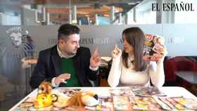 Jesús Carmona y Cristina Rodrigo durante la grabación del kiosco.