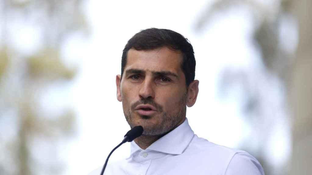 Iker Casillas, durante un acto