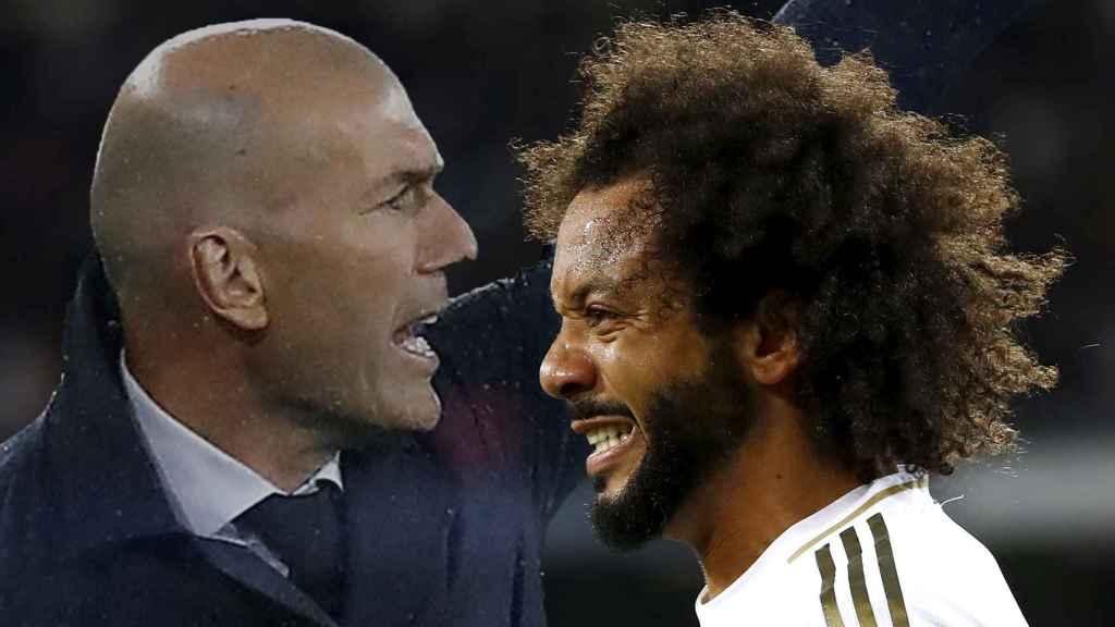 Marcelo y Zinedine Zidane