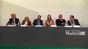 Los ponentes del acto 'La España que reúne' en Madrid.