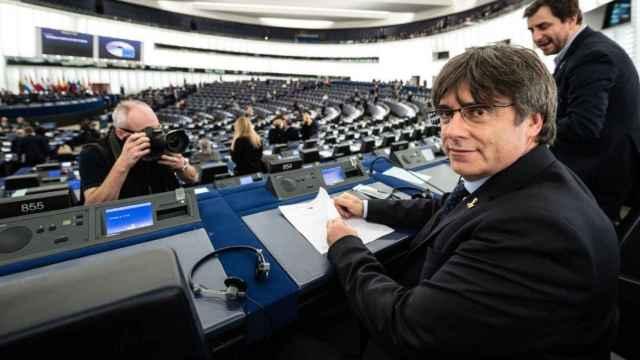 Carles Puigdemont, en el Parlamento Europeo./