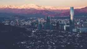 Panorámica de Santiago de Chile.