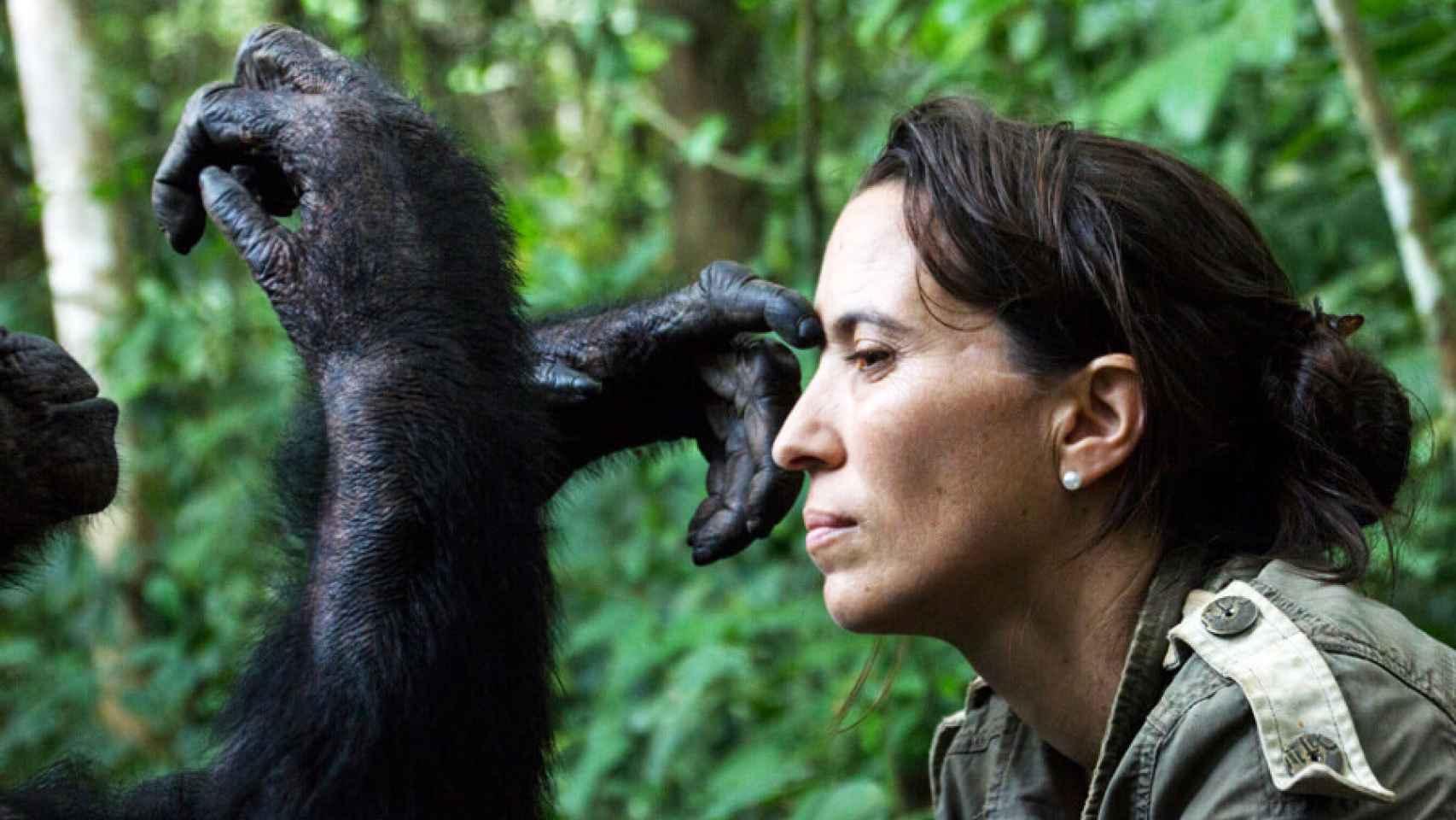 Rebeca Atencia, directora del Instituto Jane Goodall en el Congo