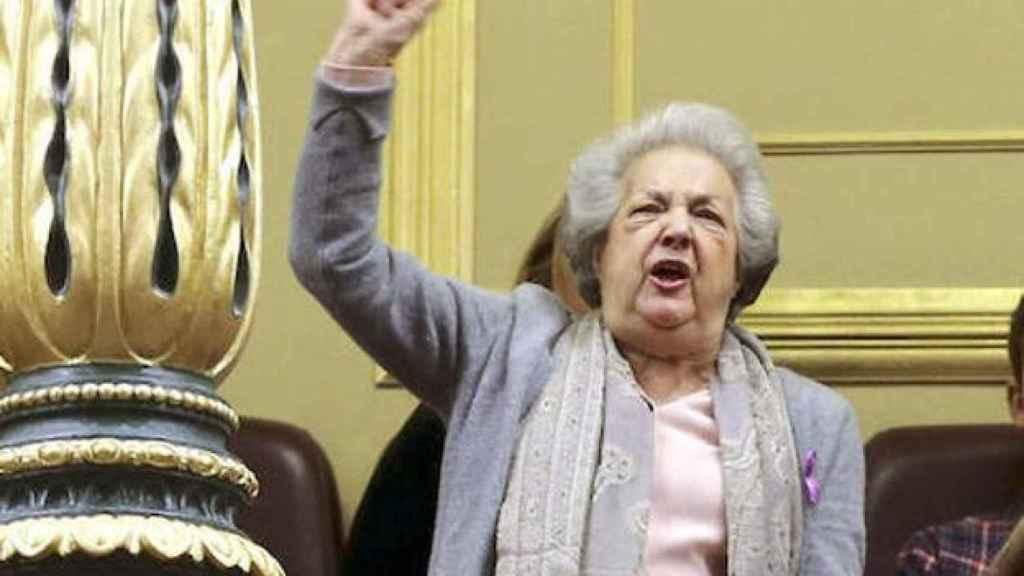 Ana María Pérez del Campo, en la tribuna del Congreso de los Diputados.