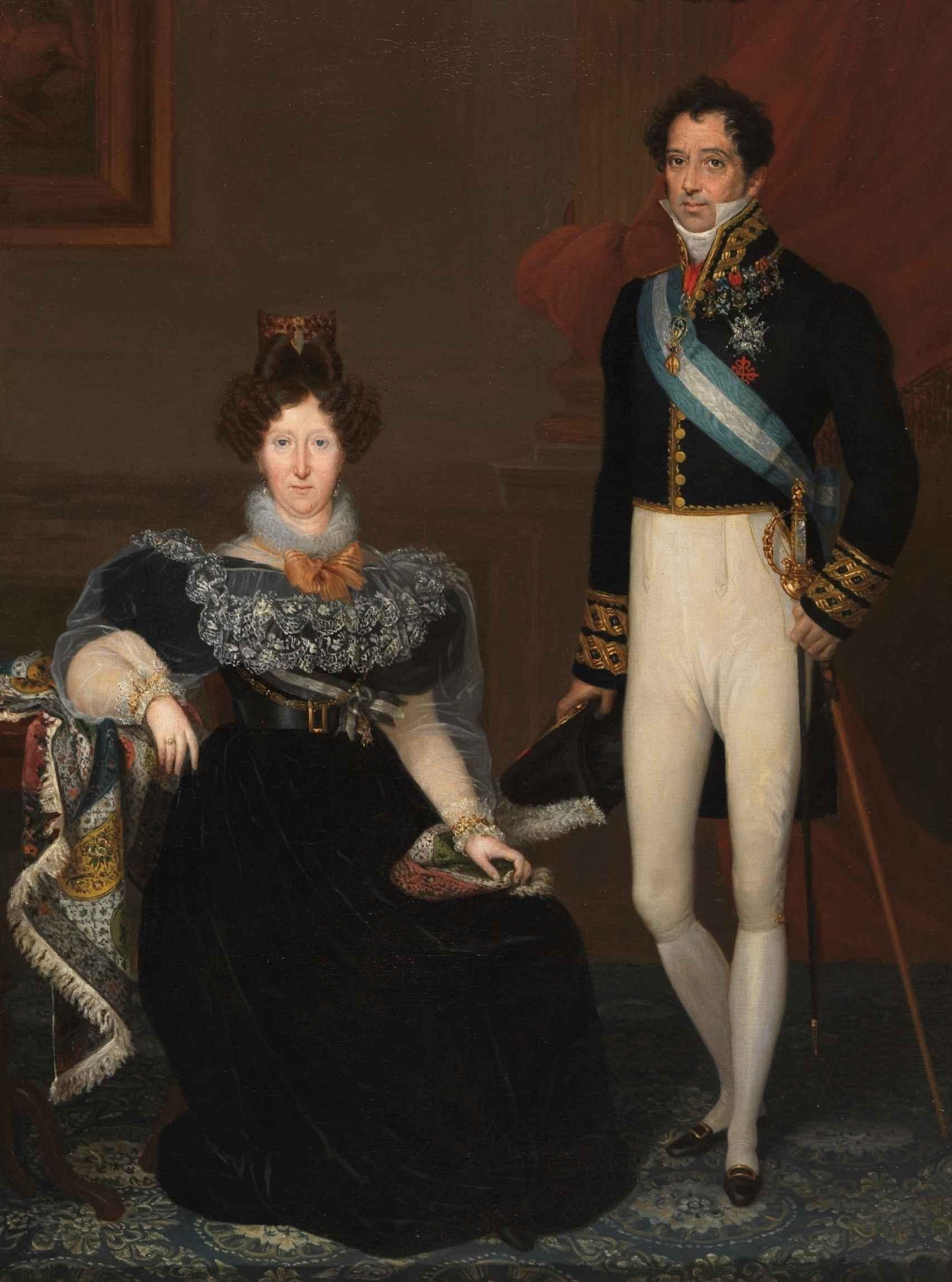 'Los duques de San Fernando de Quiroga', obra de Rosario Weiss entregada en depósito al Museo de Arte Moderno de Madrid en 1942 y que ahora se expone en el Prado.