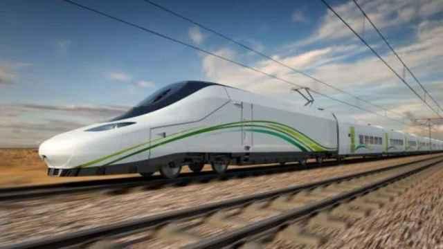 Ilustración del tren AVE de Talgo para el Ave La Meca-Medina, en Arabia Saudí.
