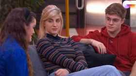 Amaia, Samantha y Geràrd, durante la charla en la academia (TVE)