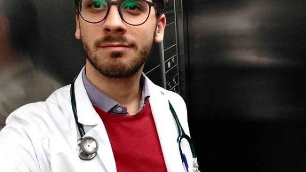 César, el novio de Alejandro Amenábar, en una imagen de sus redes sociales.