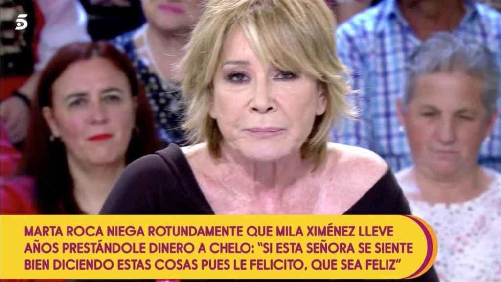 Mila reveló que le había prestado dinero a Chelo García Cortés durante dos años.