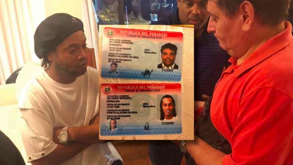 Ronaldinho y la documentación falsa con la que entró en Paraguay