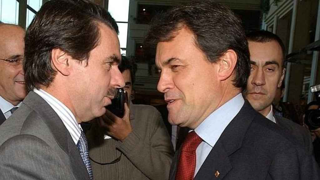 José María Aznar y Artur Mas, cara a cara.