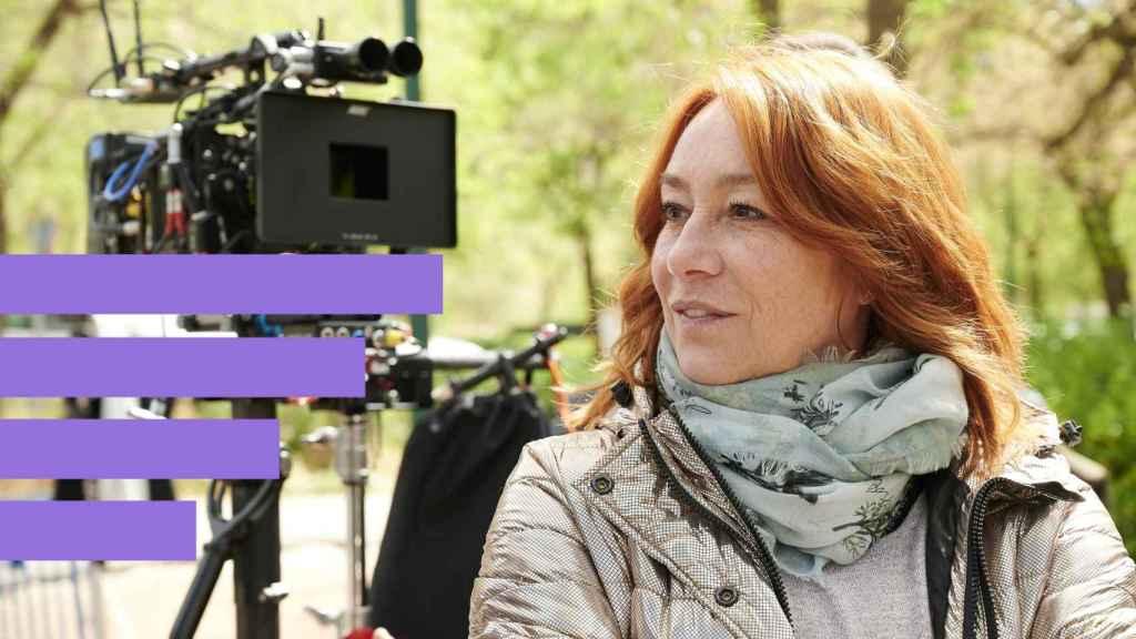 Gracia Querejeta en el rodaje del filme.
