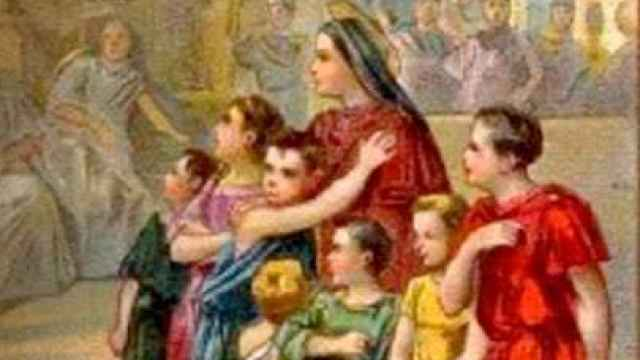 Santa Felicidad y sus siete hijos.