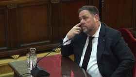 Oriol Junqueras, en una imagen de archivo durante el juicio ante el Supremo./