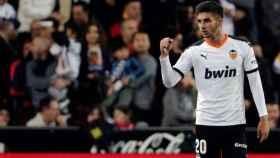 Ferrán Torres, con el Valencia