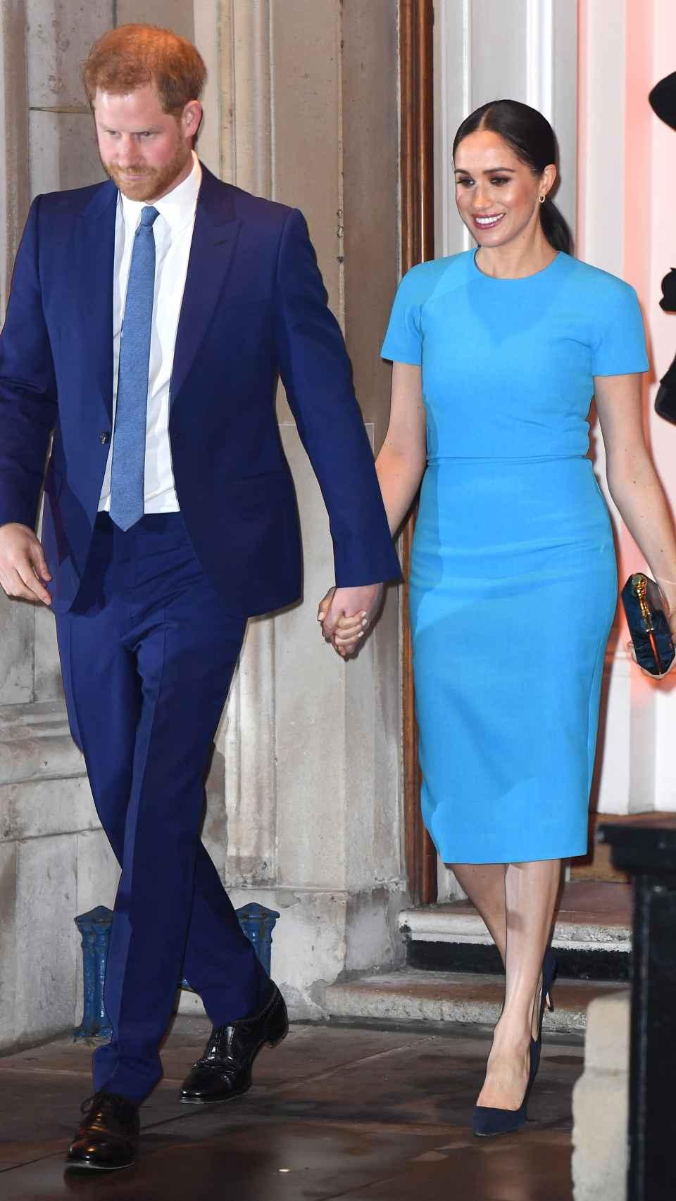 Meghan y Harry salieron juntos del acto.