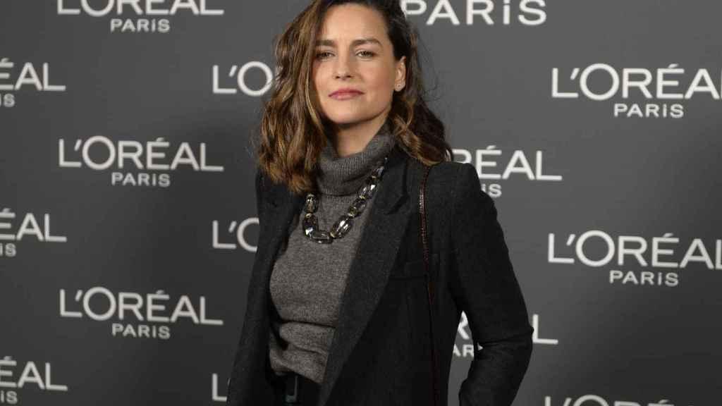 María Palacios, en la fiesta de la peluquería.