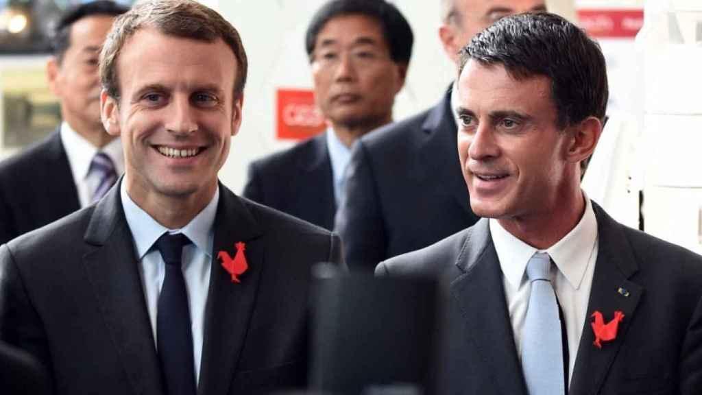 Emmanuel Macron y Manuel Valls.