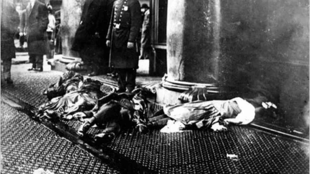 Algunas de las víctimas del incendio.