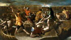 'Naumaquia romana', un lienzo de Giovanni Lanfranco.