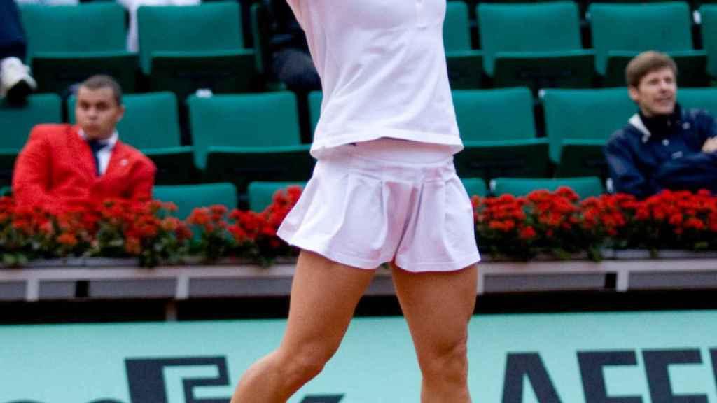 Vivi Ruano, en Roland Garros 2008