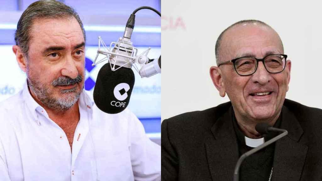 Carlos Herrera y Juan José Omella, en una imagen de archivo.