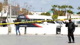 Cordón policial en la zona donde ha tenido lugar la explosión.