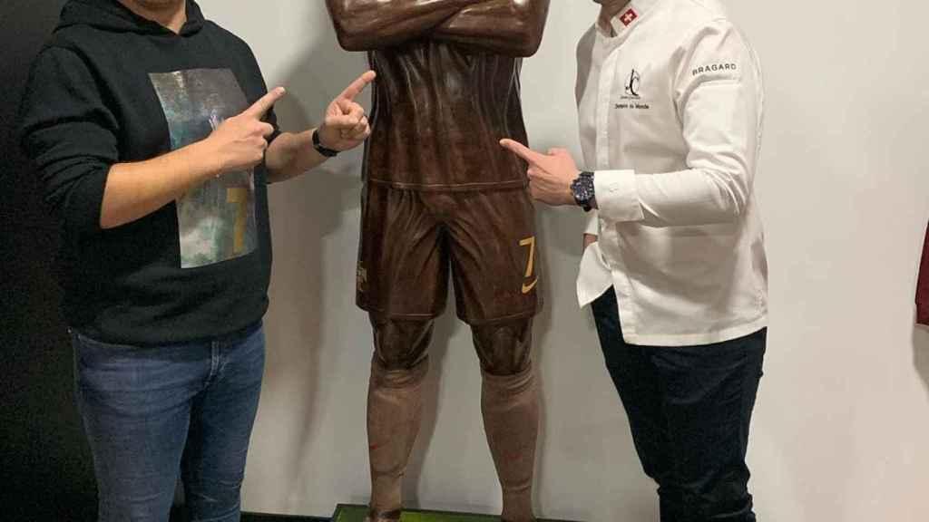La nueva estatua de Cristiano Ronaldo en su museo de Funchal