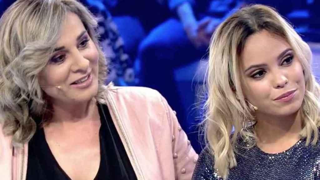 Ana María Aldón y Gloria Camila en Telecinco.