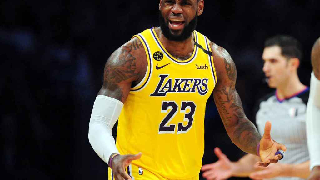 LeBron James, en el partido frente a Milwaukee