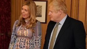 Carrie Symonds y Boris Johnson.