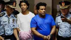 Ronaldinho y su hermano