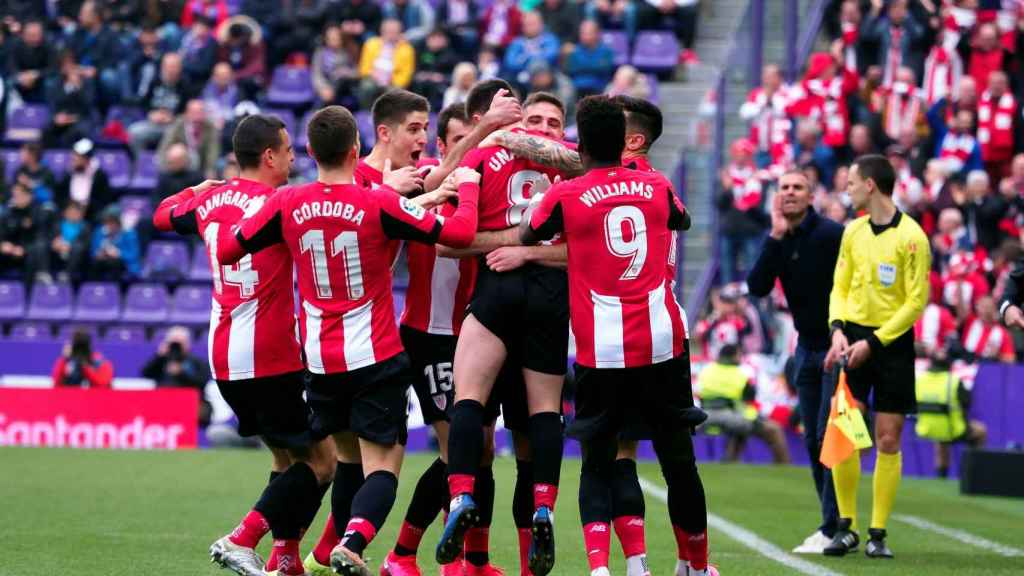 El Athletic Club celebra un gol ante el Valladolid