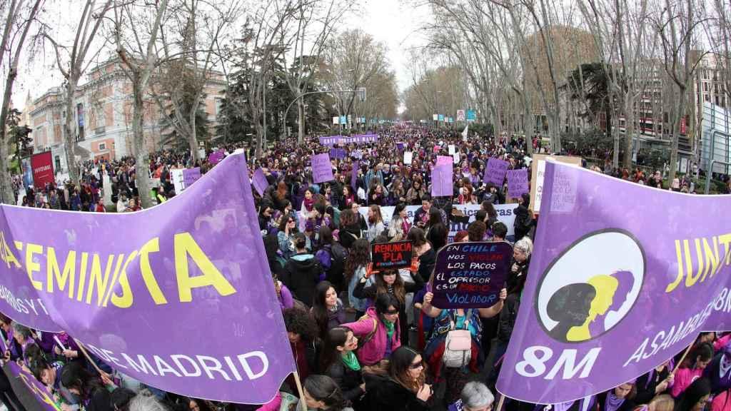 Manifestación en Madrid por el 8 de marzo.