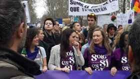 Irene Montero, en una manifestación feminista.