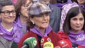 Carmen Calvo en la manifestación del 8-M.