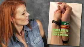 Mireia Varela junto a la publicación que ha compartido en redes.
