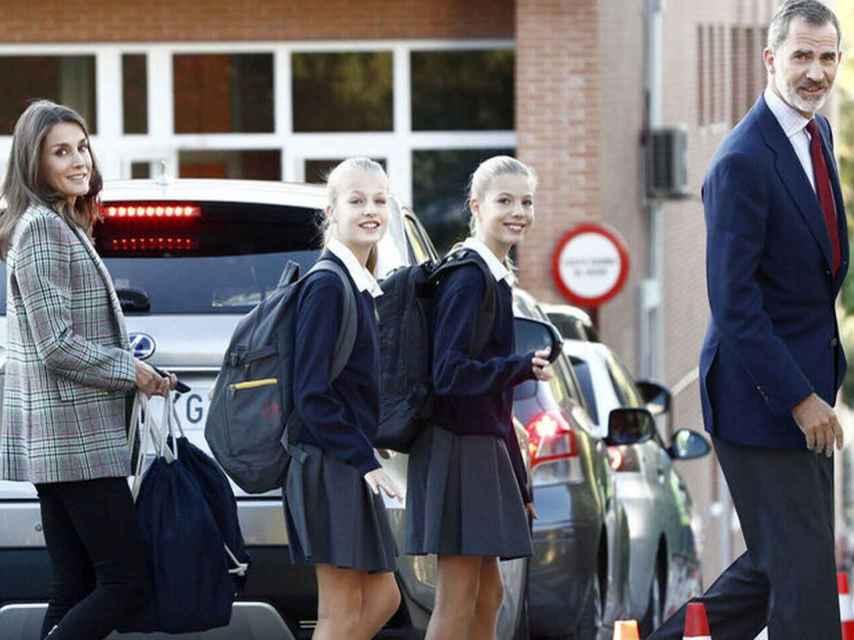 Leonor y Sofía vuelven al colegio tras el caso de coronavirus.