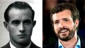 Pablo Casado, a la derecha, y su abuelo Herman.