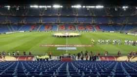 El estadio del FC Basilea en un partido de Europa League