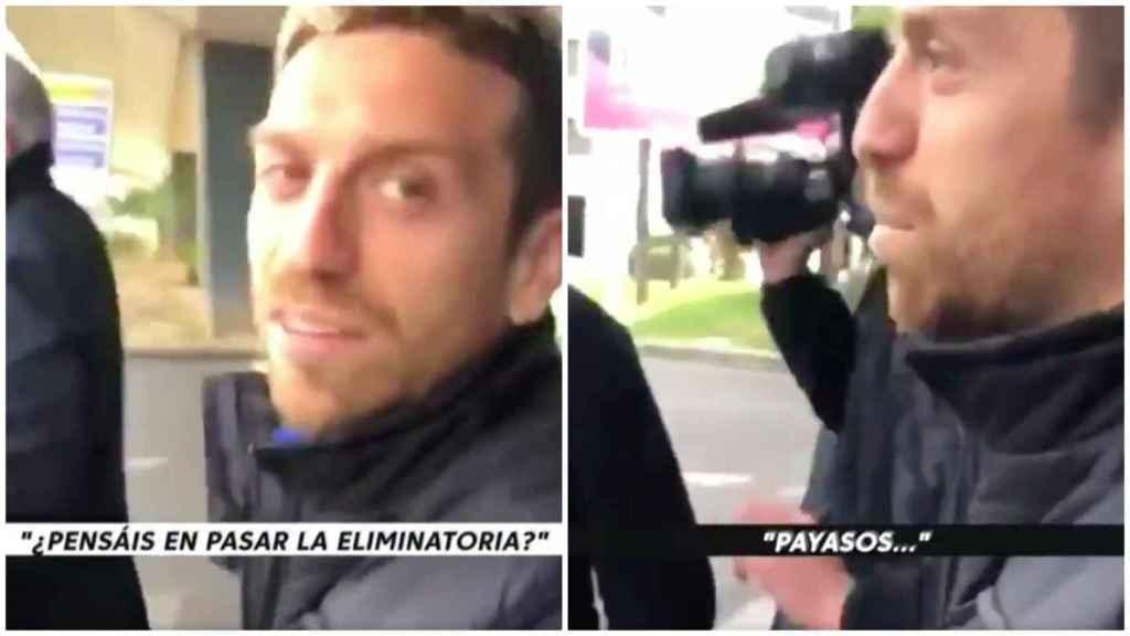 El enfado del Papu Gómez a su llegada a Valencia