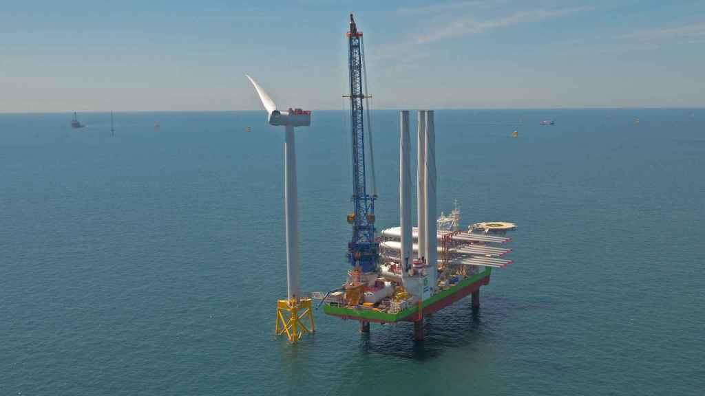 Imagen del proyecto eólico marino en Francia.