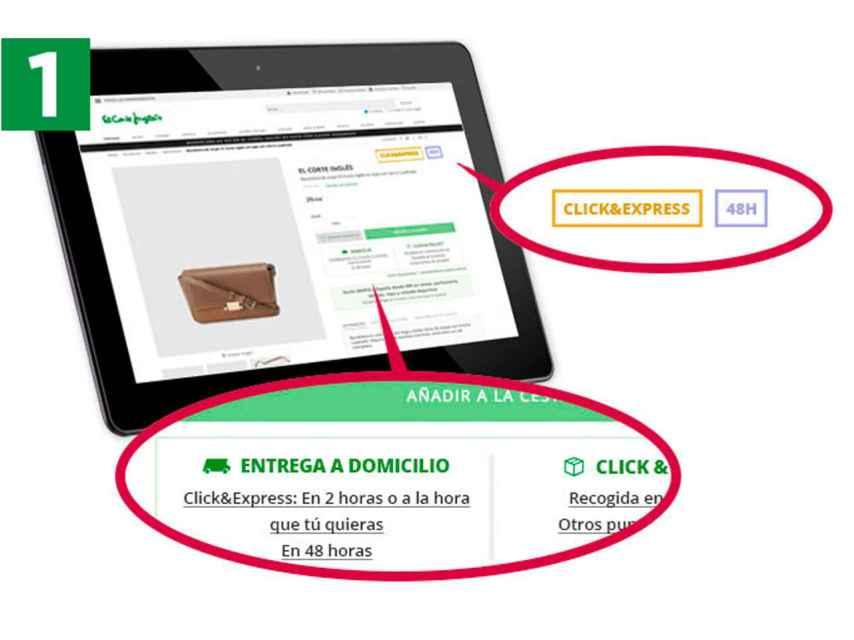Ejemplo de compra en Click&Express