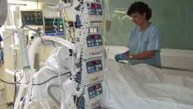 Una UCI del Hospital La Paz.