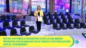 Carlota Corredera durante la presentación de 'Sálvame' este martes sin público.
