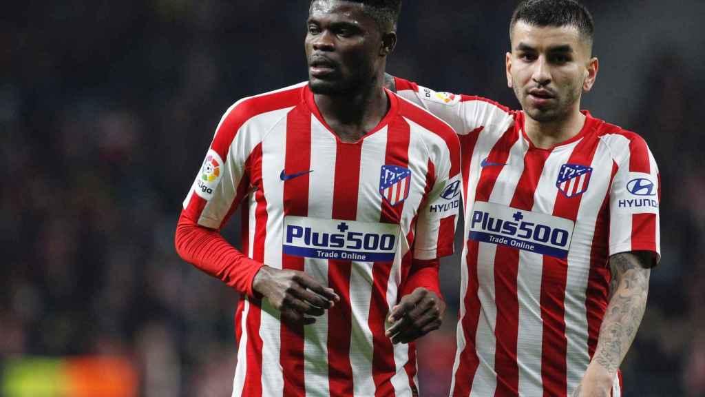 Thomas Partey y Correa con el Atlético de Madrid