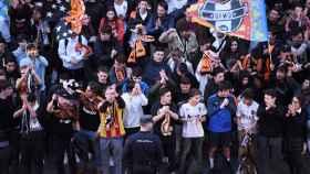 Aficionados del Valencia en Mestalla