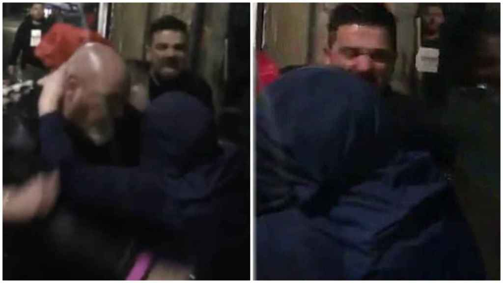 La pelea del futbolista español Nacho Novo a la salida de un bar