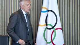 Juan Antonio Samaranch en una reunión del COI