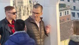 El secretario general de Vox, Javier Ortega Smith, en Milán el pasado mes de febrero.